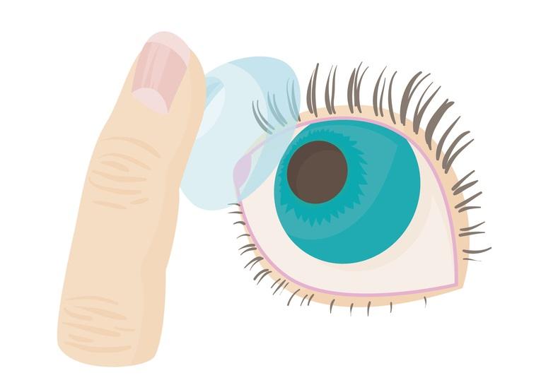 Yeux lentilles de contact